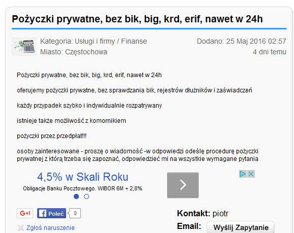 Pożyczki prywatne, bez BIK, BIG, KRD, ERIF, nawet w 24h