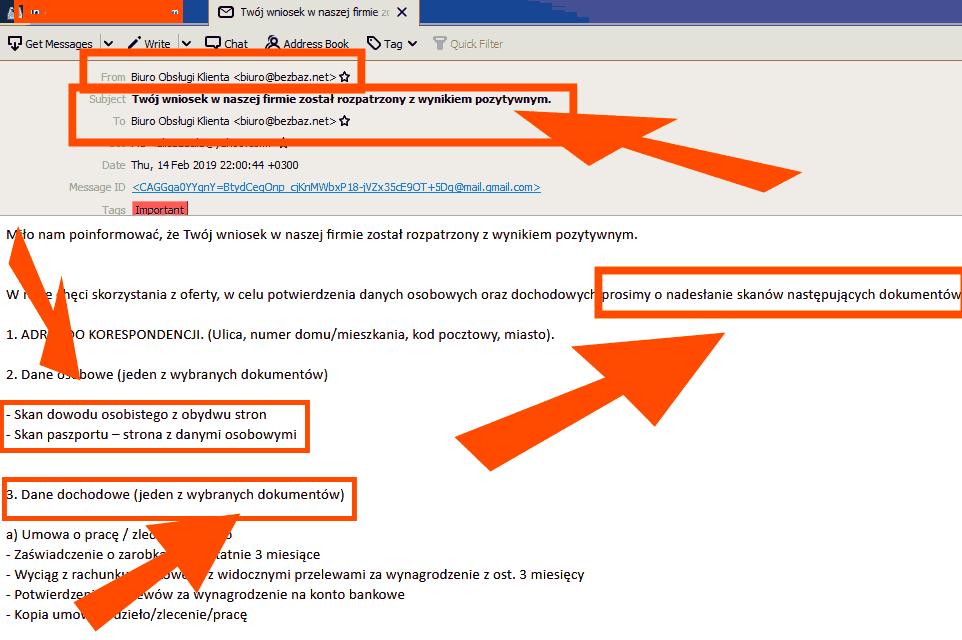 Mail od BEZBAZ.NET