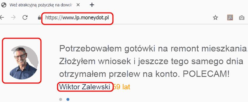 Wiktor Lewandowski z referencjami dla MoneyDot