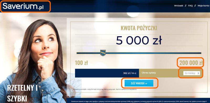 Saverium – agregat z pożyczkami online - opinia | do 200 tys zł / 24 msc