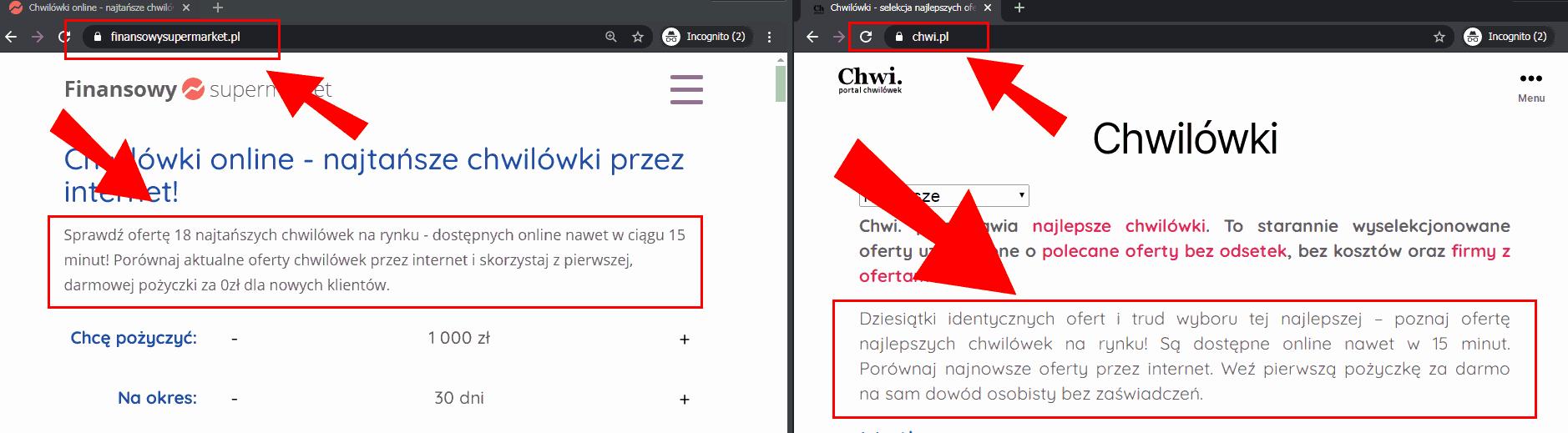 Chwi.pl i FinansowySupermarket.pl