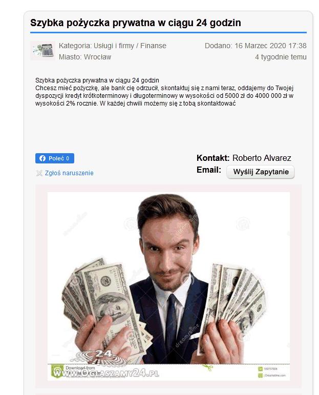 Szybka pożyczka prywatna w ciągu 24 godzin