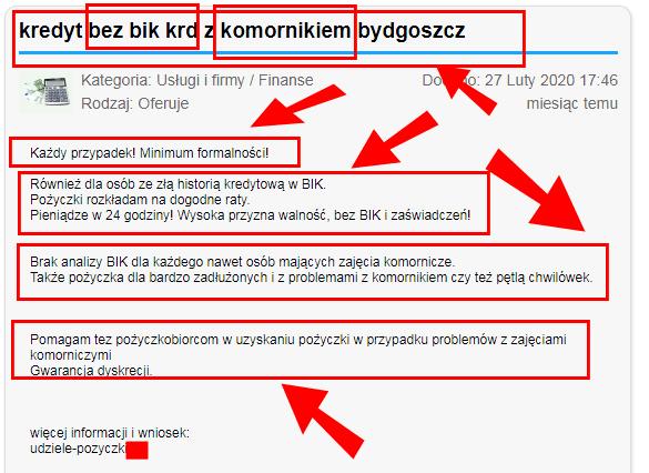 ƾ kredyt bez BIK i KRD z komornikiem w Bydgoszczy – bez RIP rozkłada na raty czy na łopatki?