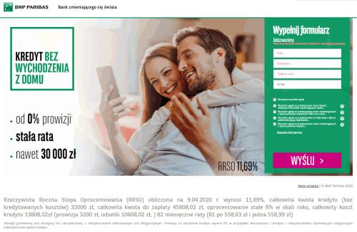 Kredyt online w BNP Paribas