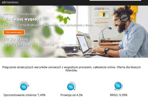 Kredyt online Citi handlowy