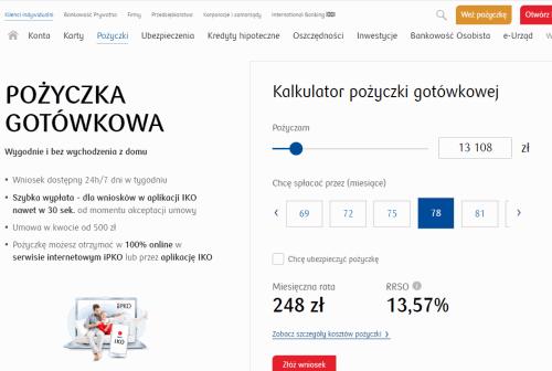 Kredyt online w PKO Banku Polskim