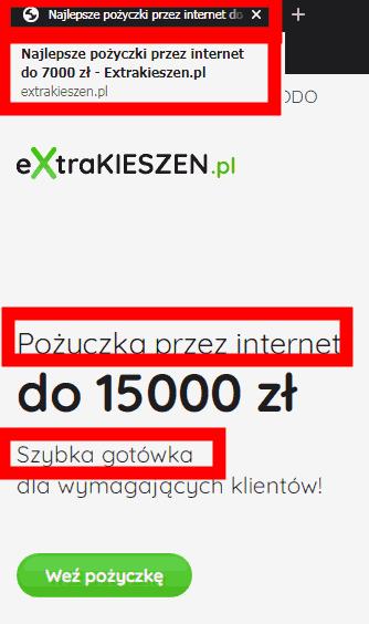 Extra Kieszeń - nie najlepsze, nie PRZEZ INTERNET