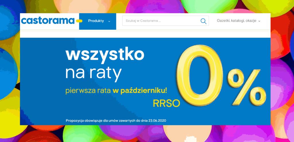 Castorama raty 0 proc. do 10K/13M w sklepie i online