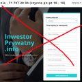 Uwaga na Inwestor Prywatny Info (inwestorprywatny.info) – wyłudzenie zamiast 120 rat miesięcznych i 100 tys zł