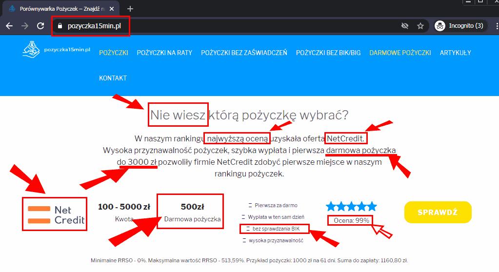 Netcredit ma być zwycięzcą rankingu Pożyczka15min