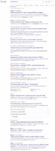 Wyniki wyszukiwania w Google dotyczące pożyczek na raty