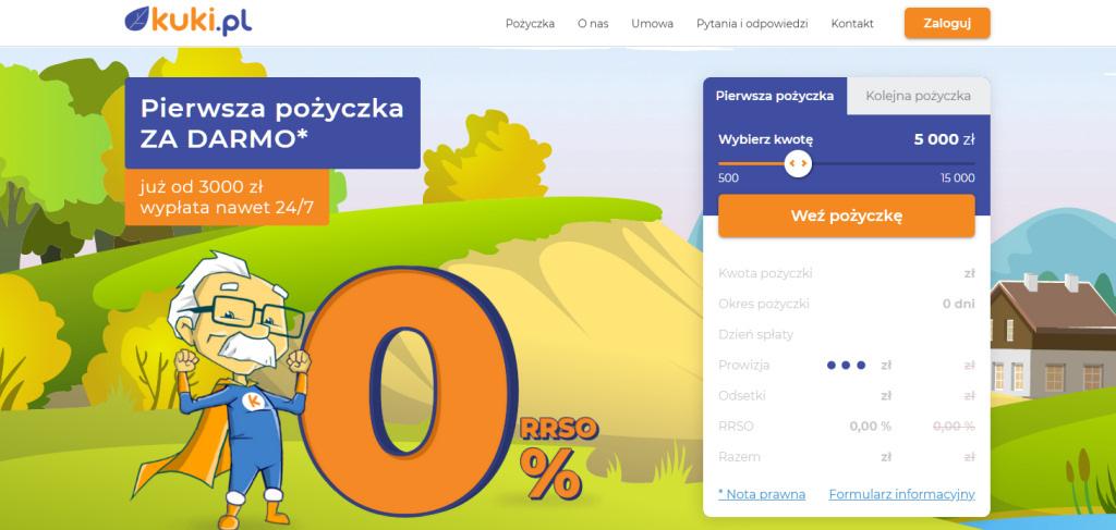 Darmowa chwilówka od kuki.pl
