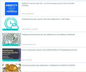 Lista ofert OLX dla zadłużonych