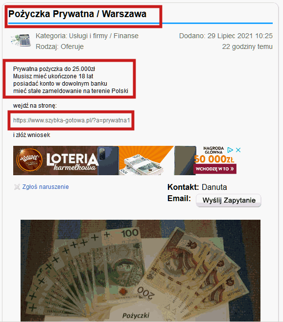 Prywatna pożyczka w Warszawie
