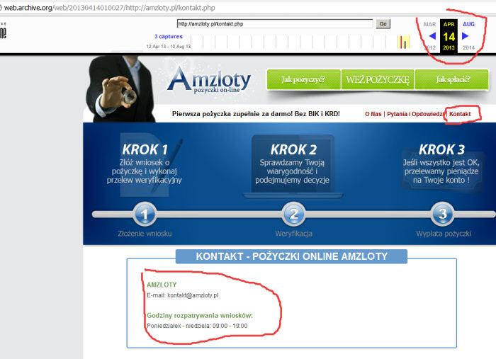 AmZloty z web.archive.org