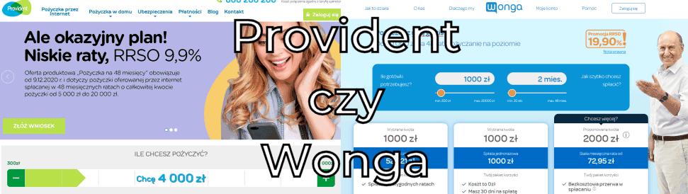 Provident czy Wonga