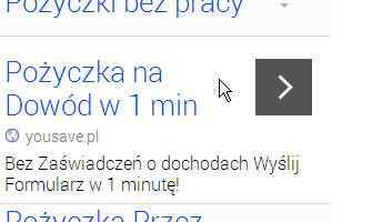 W jedną minutę kredyt na dowód - reklama AdWords YouSave.pl